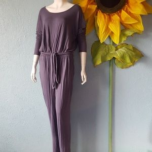 Venus grey open back rayon jumpsuit size Large